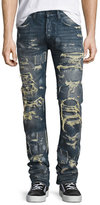 PRPS Super-Distressed Rip Repair Denim Jeans, Indigo