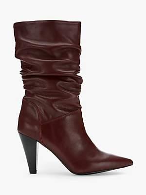 Mint Velvet Harley Cone Heel Calf Leather Boots
