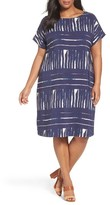 Sejour Plus Size Women's Keyhole Back Shift Dress