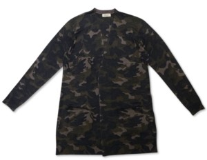 Style&Co. Style & Co Camo-Print Cardigan, Created for Macy's