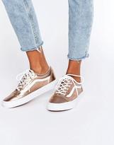Vans Unisex Exclusive Rose Gold Metallic Old Skool Sneakers