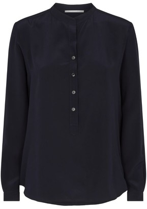 Stella McCartney Silk Button-Neck Blouse