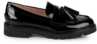 Stuart Weitzman Adrina Tassel Patent Leather Loafers