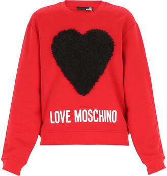 Love Moschino Logo Printed Crewneck Sweatshirt