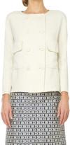 Max Studio Ramie And Linen Doubleweave Jacket