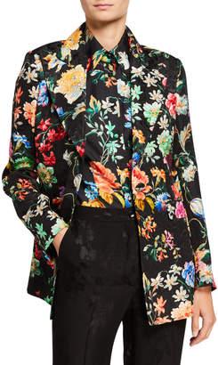 Etro Spaced Floral Matelasse Blazer