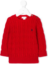 Ralph Lauren twist-stripe knitted sweater