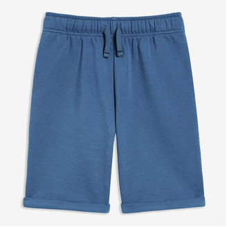 Joe Fresh Kid Boys' Roll Cuff Shorts, Blue (Size M)