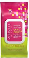 Andalou Naturals Sensitive Micellar One Step Facial Cleansing Swipes, 35-Piece