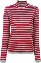 Marni striped turtleneck top - women - Silk/Virgin Wool - 44