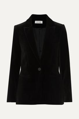 Cefinn - Jamie Cotton-velvet Blazer - Black