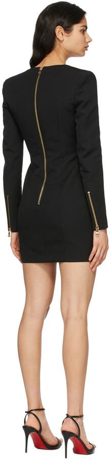Thumbnail for your product : Balmain Black Wool Button Dress