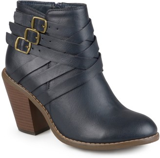 Journee Collection Strap Women's Ankle Boots