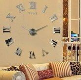Polarbear's Shop Modern Design DIY 3D Big Wall Clock Home Decor Quartz Horloge Wall Watch Stickers Reloj De Pared Acrylic Mirror Clocks 20 Inch (Silver Color) by Unknown