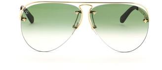 Louis Vuitton Grease Aviator Sunglasses Metal