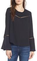 Rebecca Minkoff Women's Chava Bell Sleeve Top