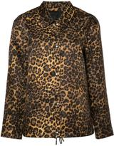 Alexander Wang leopard print jacket - women - Nylon/Acetate/Viscose - L