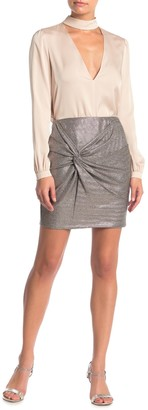 Elodie K Twist Front Mini Skirt