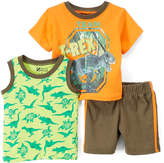 Orange Dinosaur 'T-Rex' Tee Set - Infant