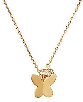 Kate Spade Women's Goldtone Cubic Zirconia Butterfly Pendant Necklace