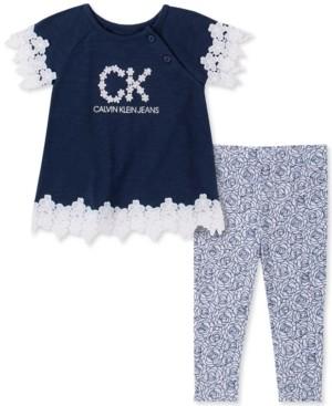 Calvin Klein Baby Girls Tunic and Printed Leggings Set