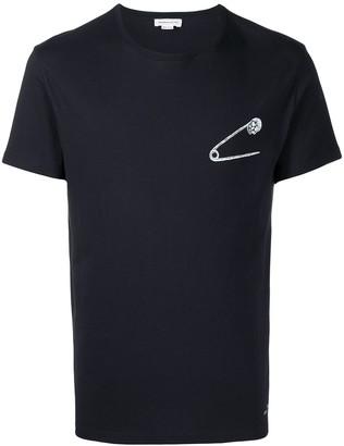 Alexander McQueen safety pin skull print T-shirt
