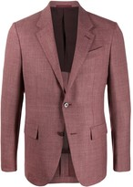 Ermenegildo Zegna logo tag single-breasted blazer