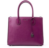 Big Mercer Fuxia Leather Tote Bag