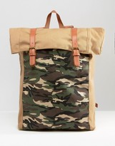 Asos Backpack With Camo Pocket
