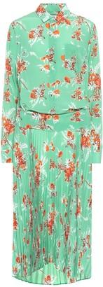 Plan C Silk crApe de chine shirt dress