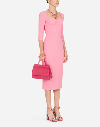 Dolce & Gabbana Form-Fitting Cady Midi Dress