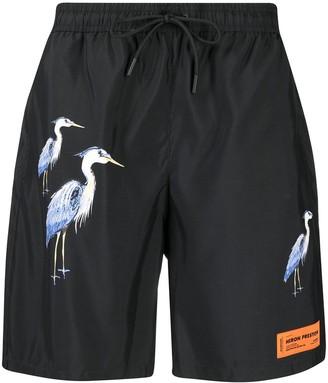 Heron Preston Herons-Print Swim Shorts