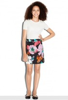 Milly Minis Paper Floral Modern Mini Skirt