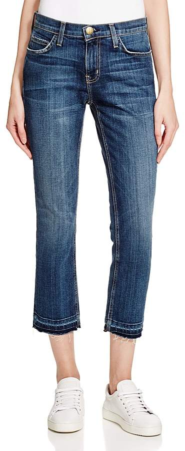 Current/Elliott Cropped Straight Jeans in Loved