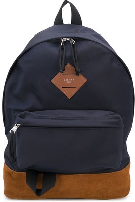 Sandro Paris Suede-Panel Technical Backpack