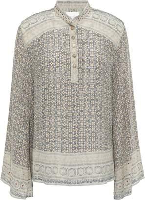Camilla Overnight Bag Crystal-embellished Printed Silk-jacquard Blouse