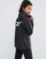 Reebok Classics Black Windbreaker Jacket With Back Print