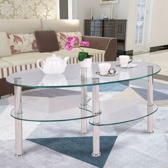 Orren Ellis Broder Glass Coffee Table Table Top Color: Transparent