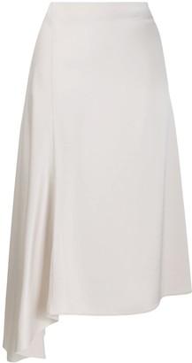 Filippa K asymmetric hem high-waisted skirt