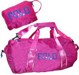 Polo Ralph Lauren Fuchsia & Royal Blue Bowery Packable Duffel Bag