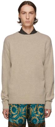 Dries Van Noten Beige Merino and Cashmere Sweater
