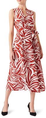 Hobbs Shelly Print Sleeveless Dress