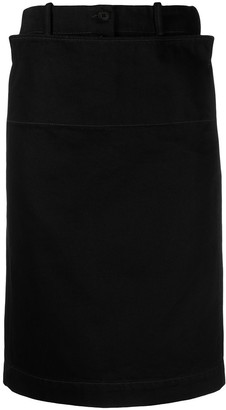 Lemaire Straight Denim Skirt