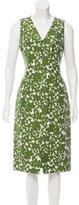 Michael Kors Floral Printed Midi Dress