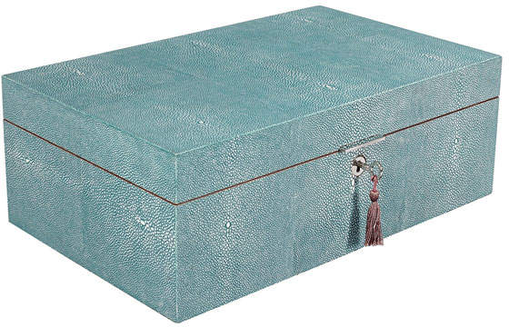 Faux Shagreen Memory Box