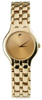 Movado 18K Yellow Gold Gold Dial Quartz Womens 1990s Watch