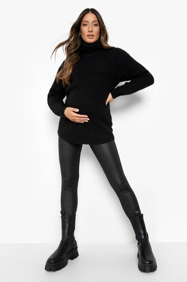 boohoo Maternity Faux Leather Legging
