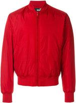 Love Moschino logo embroidery bomber jacket - men - Polyamide/Polyester/Spandex/Elastane - 46