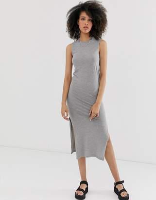 Noisy May Mayden bodycon midi dress-Grey