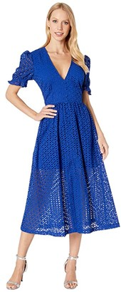 Bardot Jordan Lace Dress (Cobalt) Women's Dress
